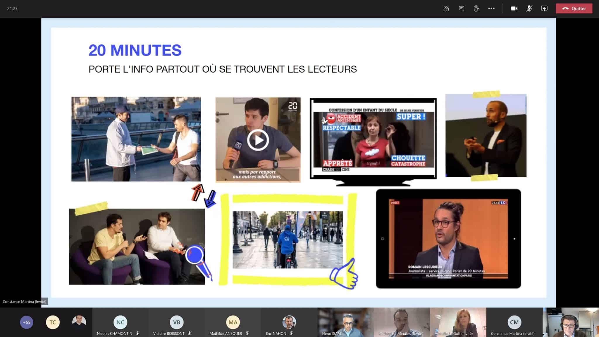 Le quotidien 20 Minutes confie deux sujets d'innovation éditoriale aux étudiants de Dauphine