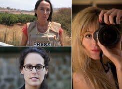 Conférence Femmes grands reporters avec Emilie Baujard, Dorothée Olliéric et Laurence Geai